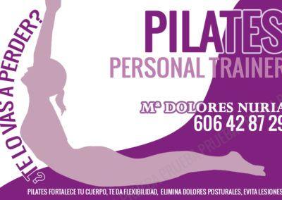 diseno tarjeta personal trainer pilates