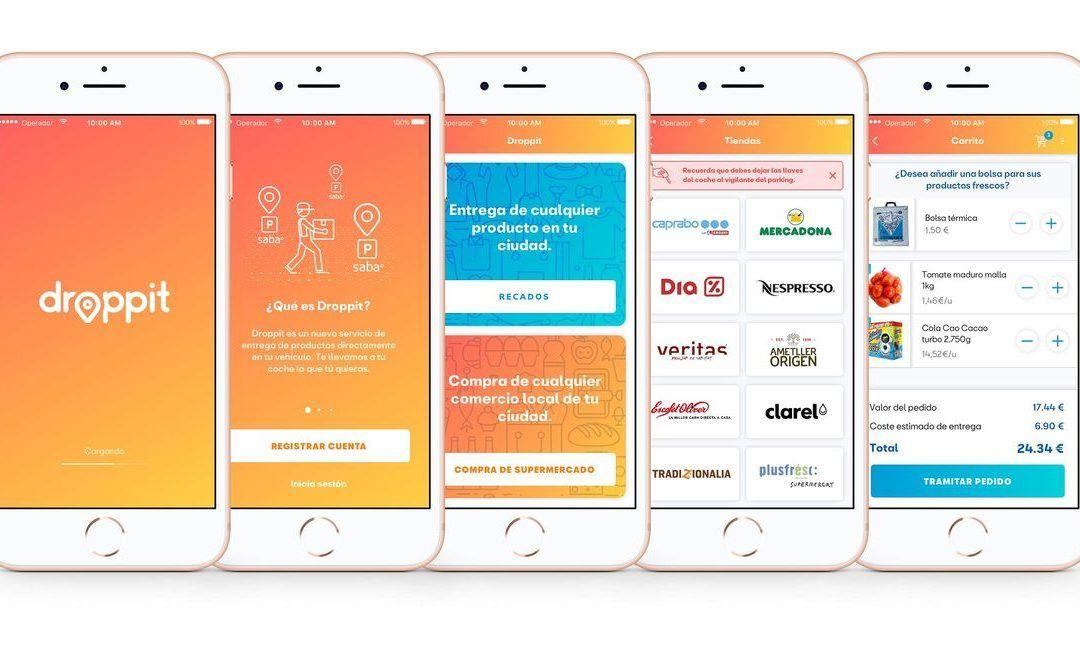 Droppit, la app de SEAT y Saba que lleva la compra al coche