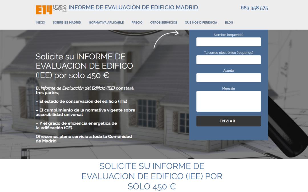 Nueva página web para Estudio Catorce  Informe de evaluación del edificio en Madrid