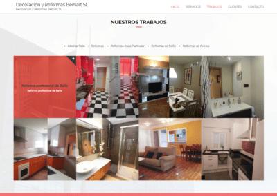 imagen de diseño página web bemart por Nocturna Diseño Web Madrid