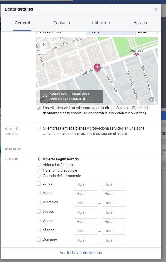facebook ubicación