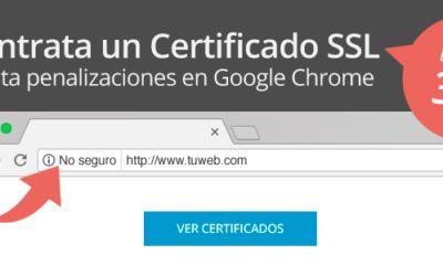 Contrata un Certificado SSL y evita penalizaciones en Google