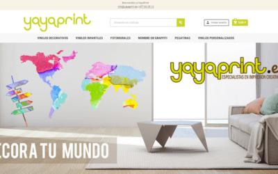 Creación de nueva Tienda online, página web para empresa de impresión digital Yayaprint