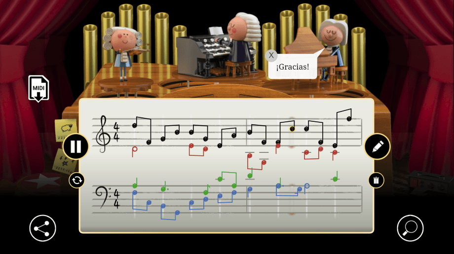 Alegría con sinfonía de Google homenaje a Johann Sebastian Bach