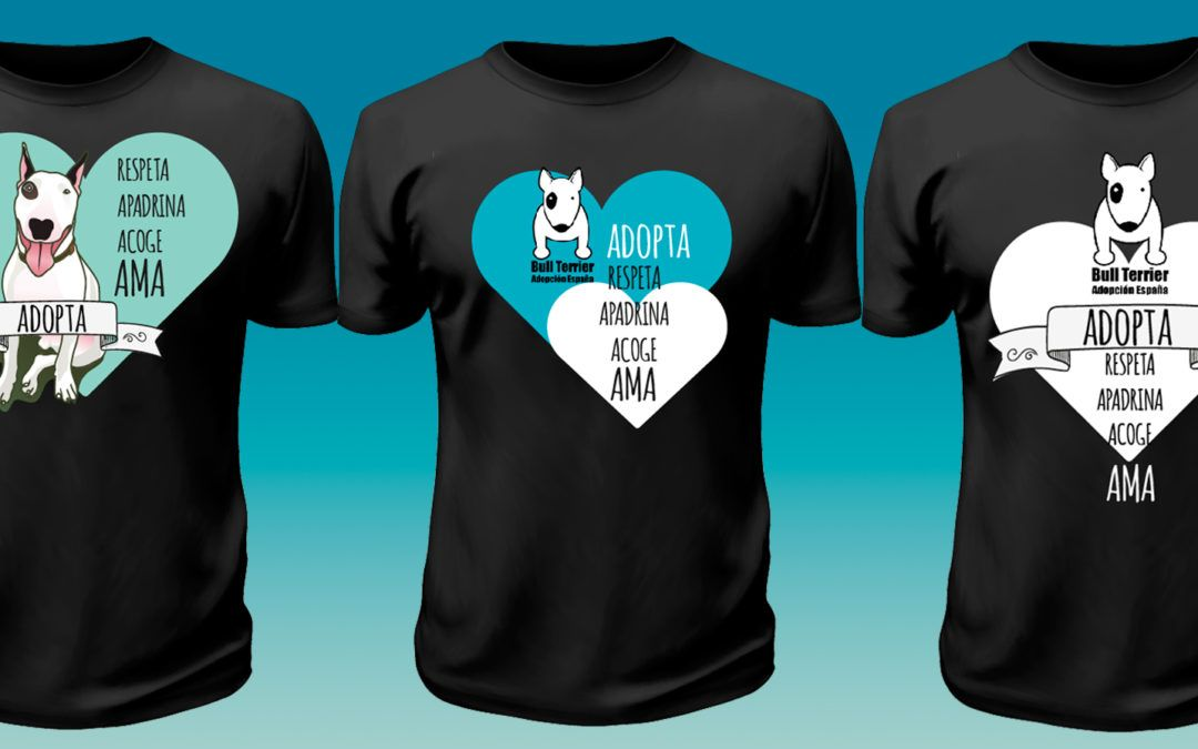 Posibles diseños para Camisetas Bull Terrier Adopta España