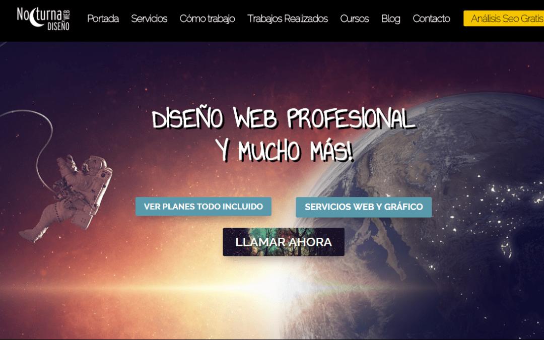 Diseño de páginas web en Madrid con WordPress |Nuevo Cambio en Nocturna