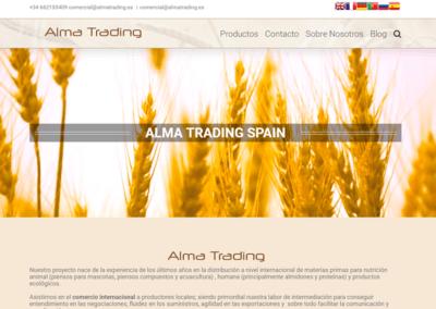 Diseño Página Web para Alma Trading – Cereales orgánicos