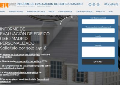 Diseño Página Web para oferta de servicio «Informe IEE Madrid» (empresa Estudio Catorce – Vialset)