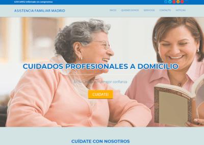 Diseño Págin Web Asistencia a Domicilio