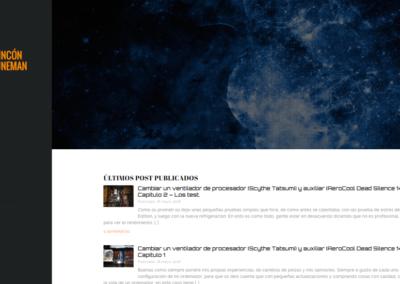 Diseño Web Blog personal El Ricón de Duneman
