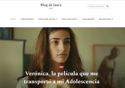 Diseño de Blog de Laura