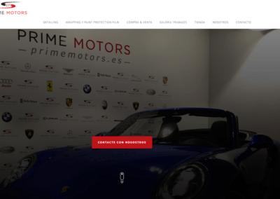 Diseño Web en Madrid para empresa/marca PrimeMotors