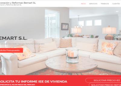 Diseño Página web para empresa de Reformas Bemart SL
