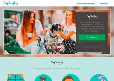 Diseño PáginaWeb, Plataforma Red Social para Dogsurfing