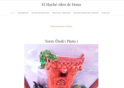 Diseño Página Web para Artista El Maché Óleo de Hono.