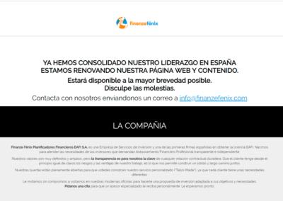 Diseño Página Web Landin para empresa FinanzeFenix.es