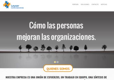 Diseño Página Web para empresa Leyser Human Resources