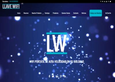 Creación Página Web | Tienda Online y corporativa Llave Wifi