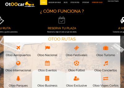 Diseño Página Web a Medida y desde cero en Html5 Bootstrap para OtooCar