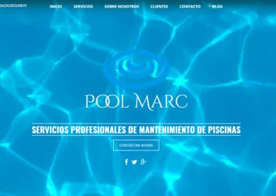 Diseño Página Web para empresa Pool Marc (mantenimiento de piscinas)