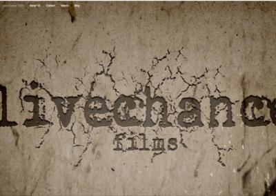 Página Web Creada para Productora de Cine LIVE CHANCE FILMS