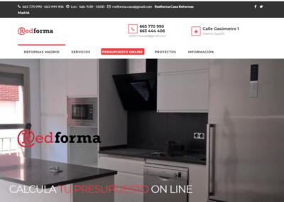 Diseño Web Empresa Reformas WordPress Personalizada