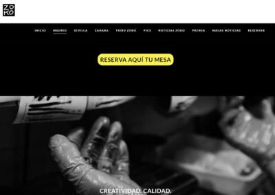 Modificaciones en el Diseño Web de Restaurante Zoko