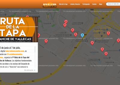 Diseño Web Evento Ruta de la Tapa Ensanche Vallecas