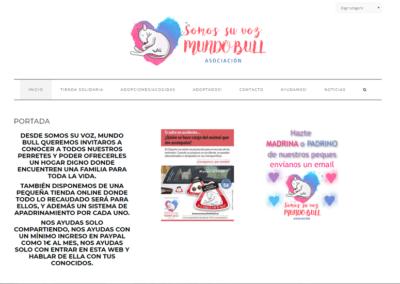 Diseño Página Web para Asociación Somos Su Voz mundo Bull Terrier