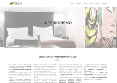 Diseño de Página Web para empresa DRESA