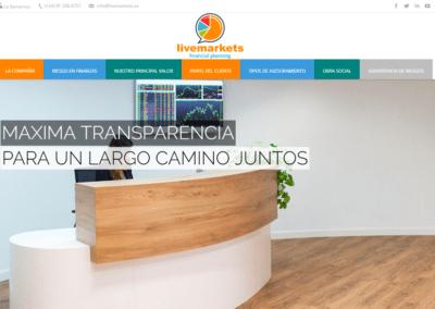 Diseño Página Web para empresa financiera LiveMarkets