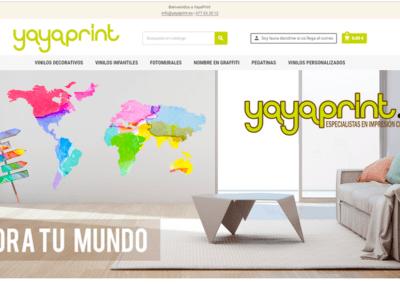 Página Web | Tienda Online Vinilos Decorativos Yayaprint
