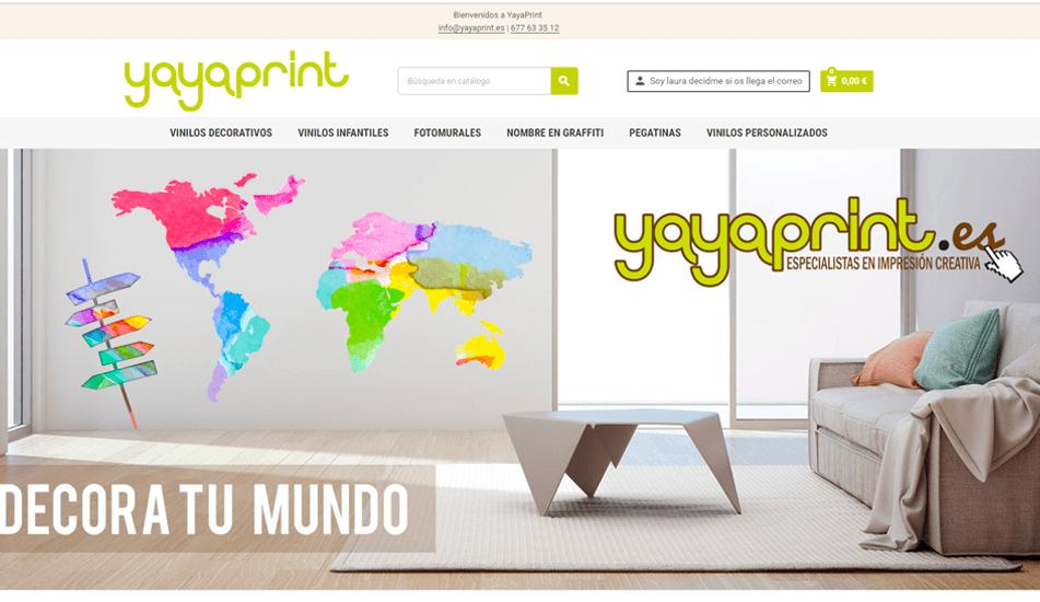 Diseño de Página Web Tienda Online Vinilos Decorativos Yayaprint