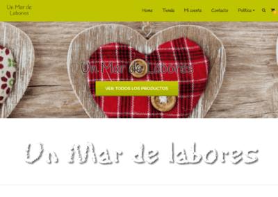 Diseño Tienda Online Un Mar de Labores