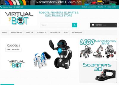 Diseño creación Tienda Online Prestashop Robótica
