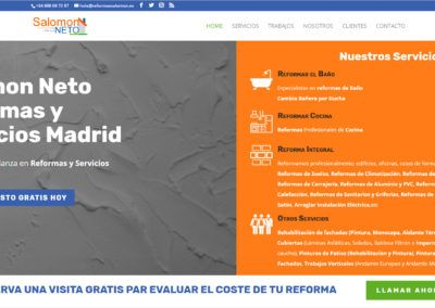 Nuevo Diseño de página web para empresa de Reformas Integrales en Madrid