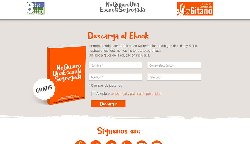 Diseño web madrid para Secretariado Gitano