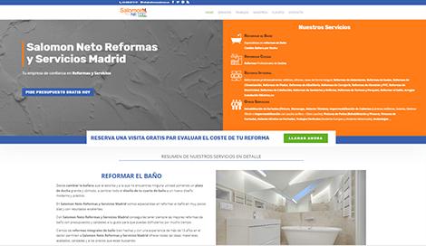 Diseno web madrid pagina reformas salomon neto
