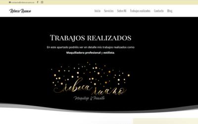 Nueva página web y creación de Logotipo para Maquilladora profesional