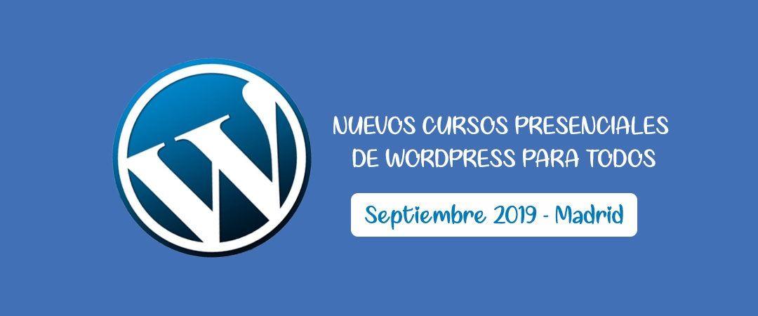 Cursos presenciales wordpress madrid