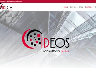 Diseño web para empresa de Madrid Ideos Consultores