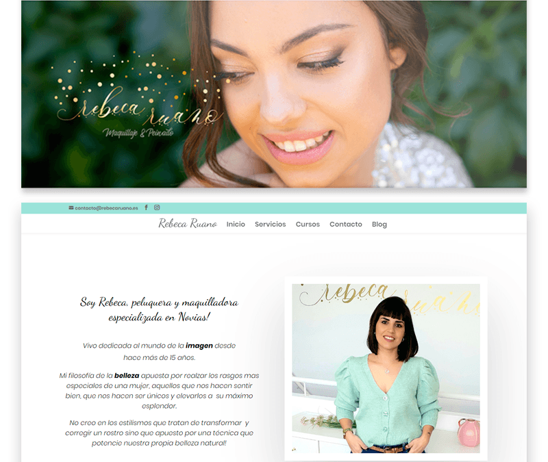Modificación de estilo en Página web de Rebeca Ruano