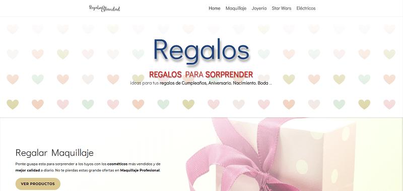 Diseño de página web Regalos originales